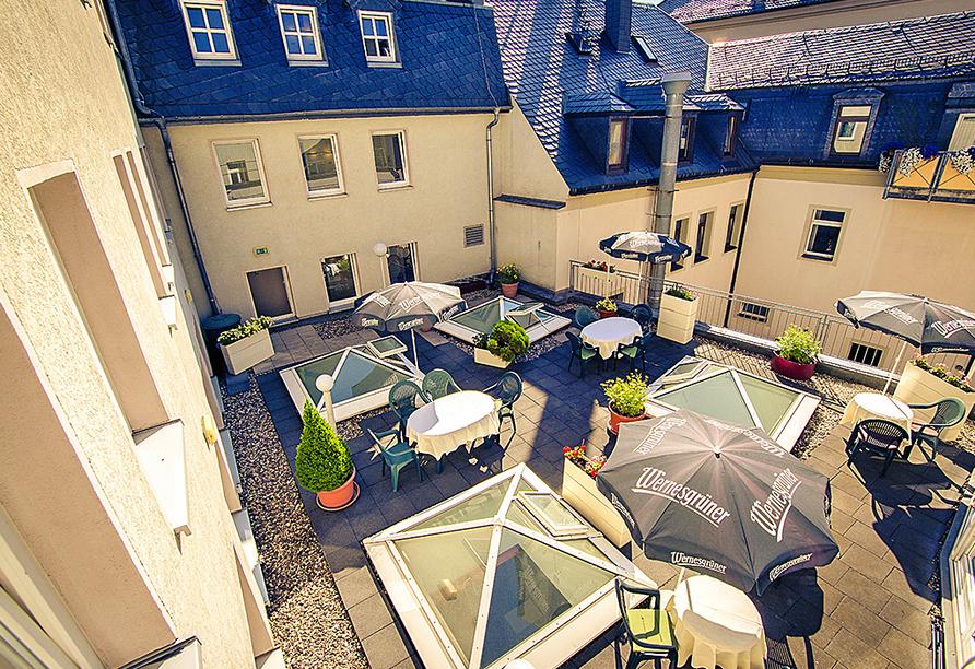 Traditionshotel Wilder Mann, Dachterrasse