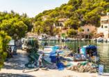 Frühling auf Mallorca, Fischer in Cala Figuera