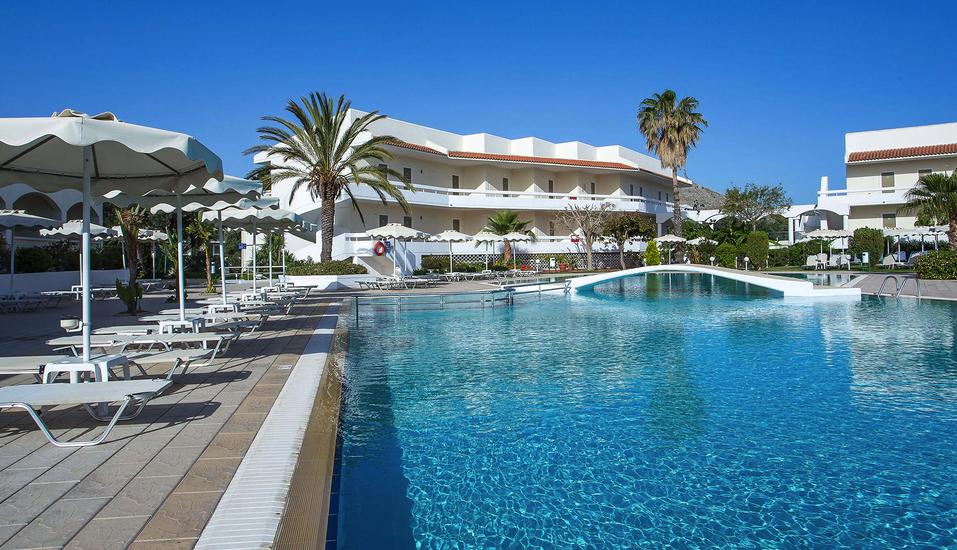 Hotel Niriides in Kolymbia, Rhodos Griechenland, Pool