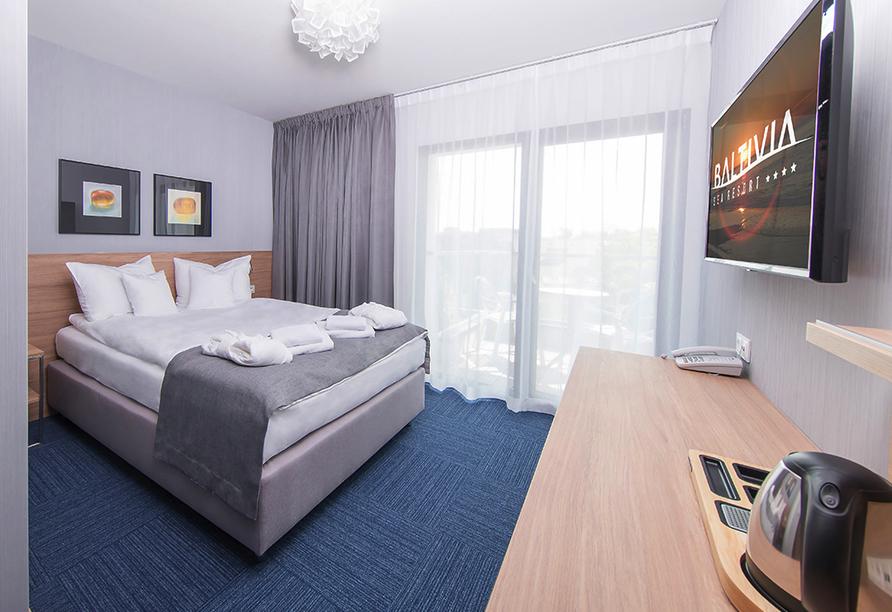 Baltivia Sea Resort in Mielno, Polnische Ostsee, Polen, Zimmerbeispiel Economy
