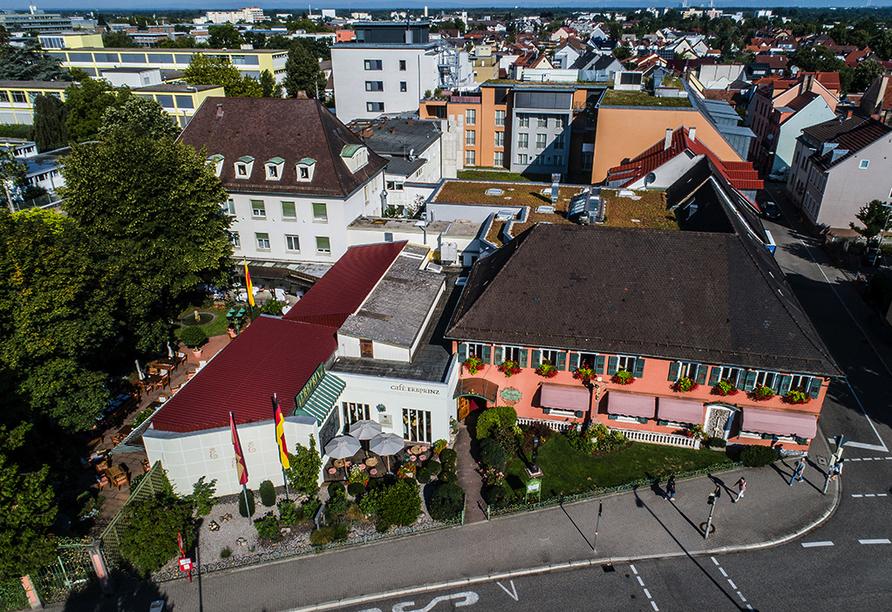 Hotel-Restaurant Erbprinz in Ettlingen, Außenansicht