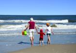 Ferienhaus Watt n Urlaub, Spaß am Strand