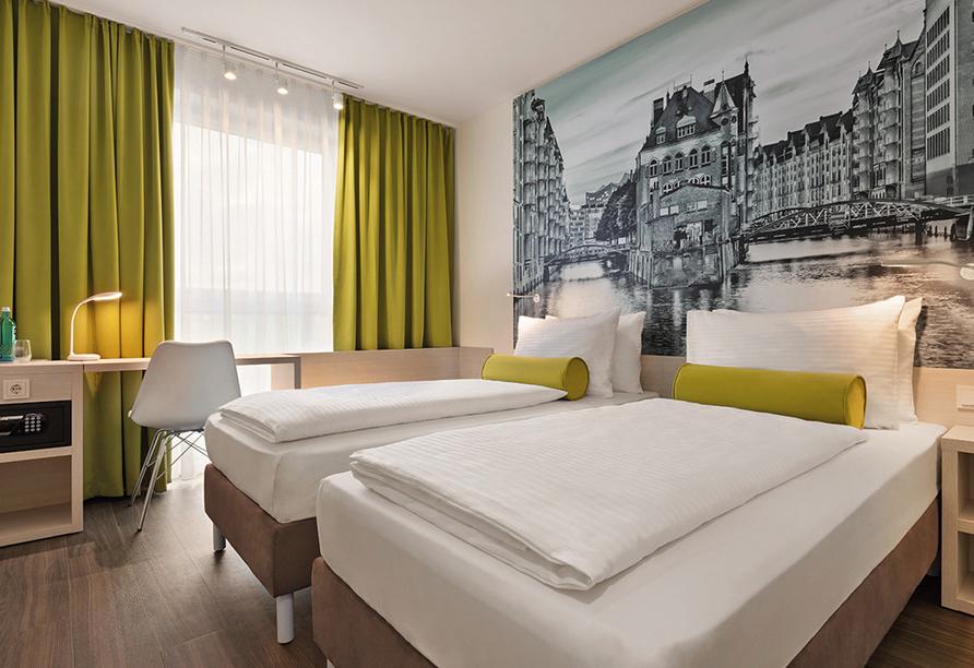 Super 8 by Wyndham Hamburg Mitte, Beispiel Doppelzimmer