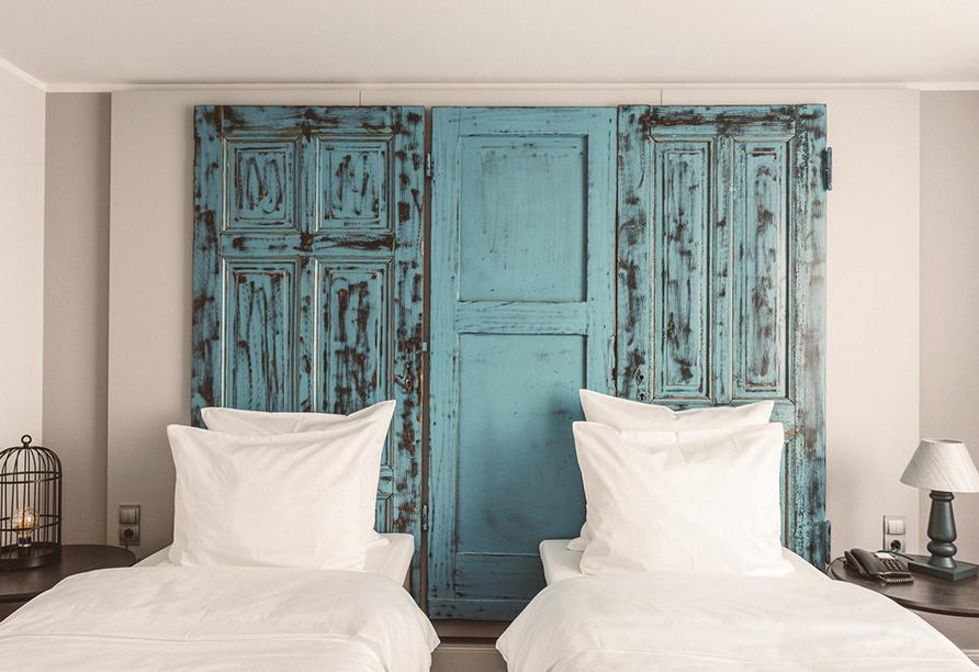 Beispiel für ein Doppelzimmer mit getrennten Betten