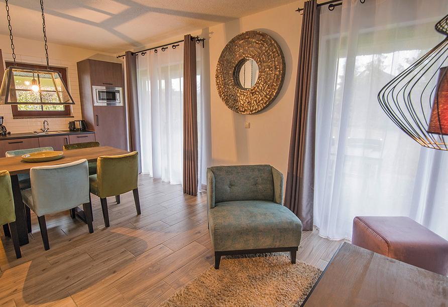 Van der Valk Resort Linstow, Beispiel Wohnbereich Ferienhaus Typ C