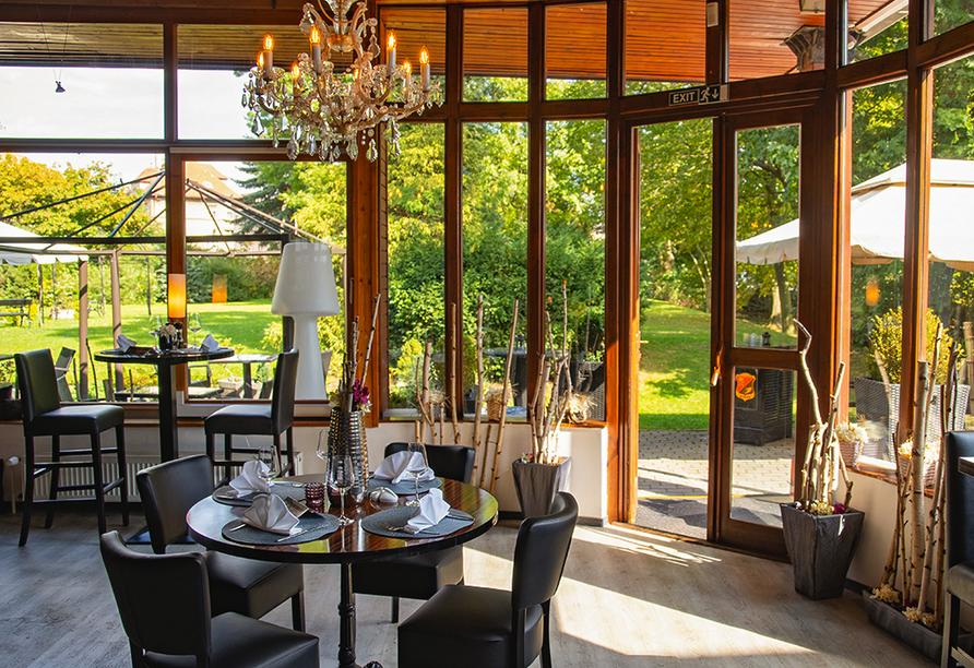 Parkhotel Morris Nový Bor in Tschechien, Wintergarten