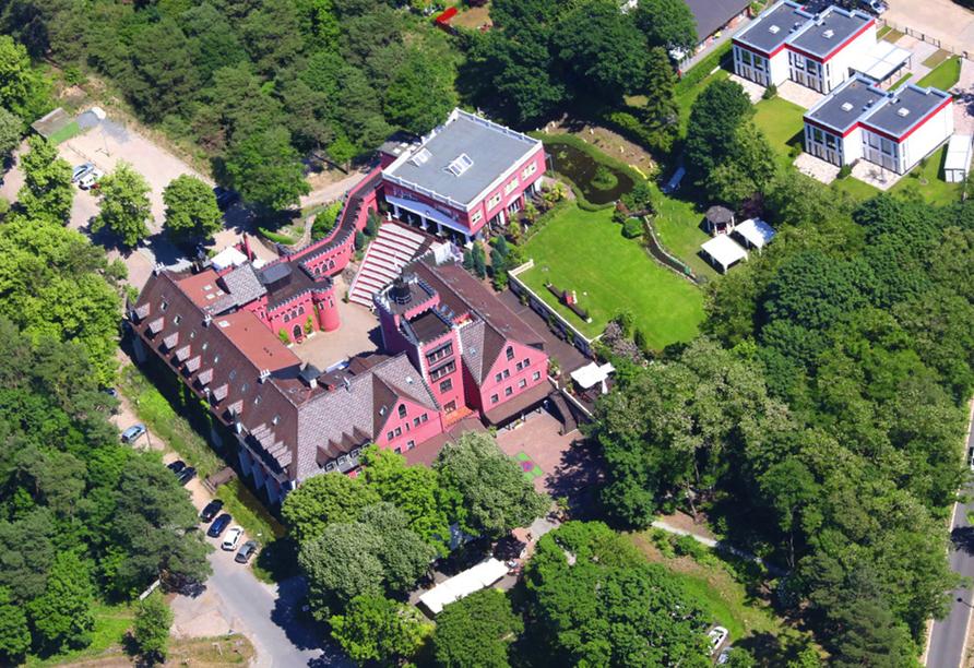 The Lakeside Burghotel zu Strausberg, Luftansicht