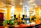 Hotel Alexandra in Plauen, Foyer und Rezeption
