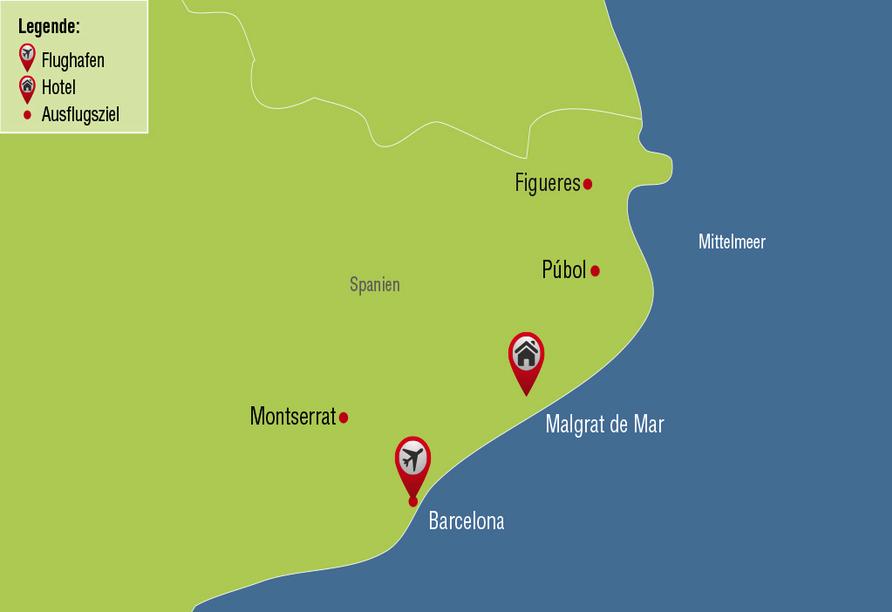 Hotel Alegria Maripins in Malgrat de Mar, Reisezielkarte