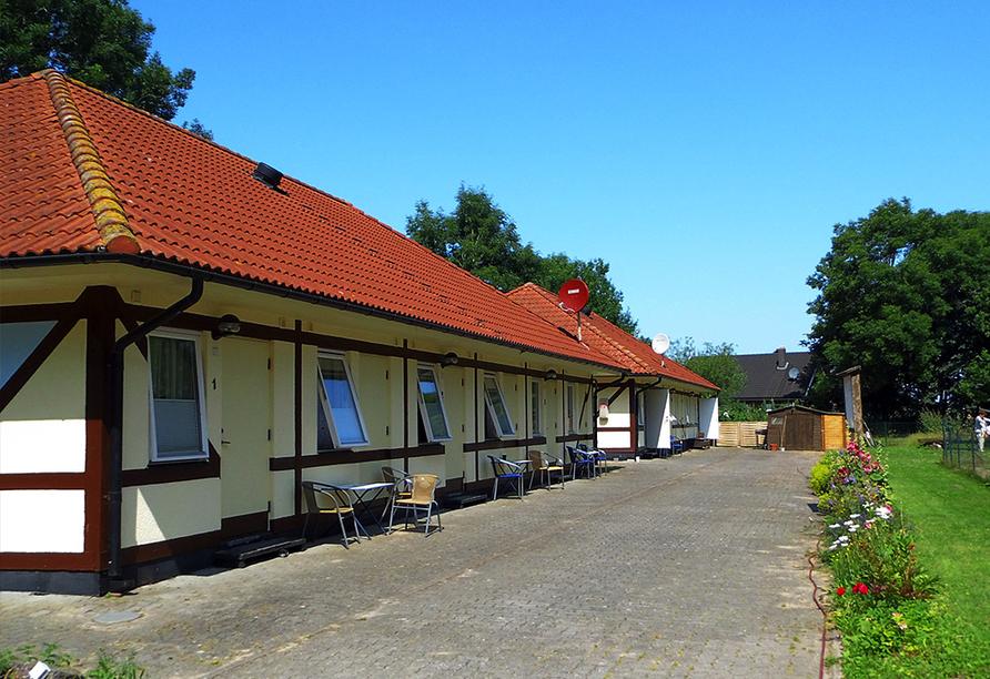 Landhotel Zum Kranich, Hofansicht