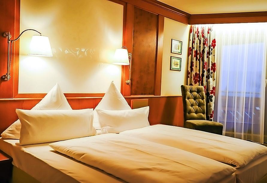 Beispiel eines Doppelzimmers im Waldhotel Luise