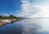 Am herrlichen Bostalsee lassen sich entspannte Stunden verbringen.