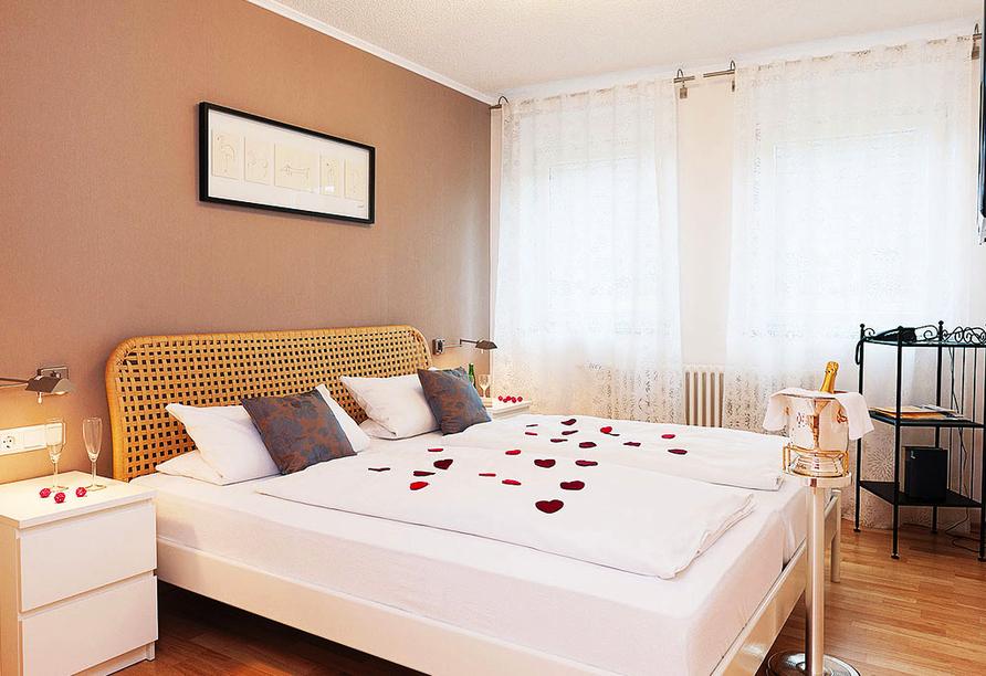 Beispiel eines Doppelzimmers im Merker's Bostal-Hotel