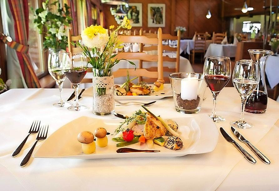 Hotel Sonnenhof und Sonnhalde in Ühlingen-Birkendorf im Schwarzwald, Restaurant im Hotel Sonnenhof