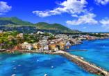 Vom Castello Aragonese aus haben Sie einen tollen Blick auf Ischia.