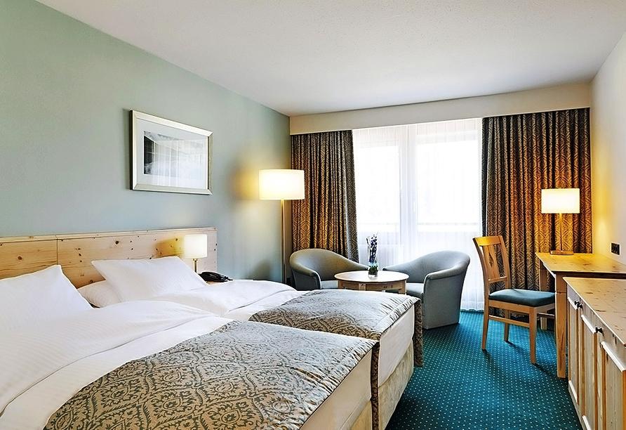 Beispielhafte Ansicht eines Doppelzimmers Komfort im Maritim Hotel Titisee