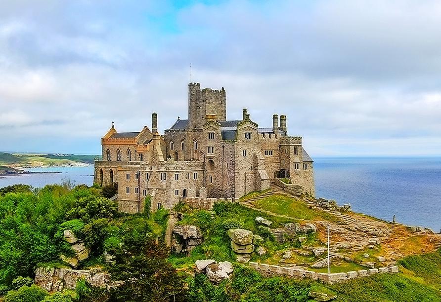 Der St. Michael's Mount im Westen Cornwalls ist ein beliebtes Fotoobjekt.