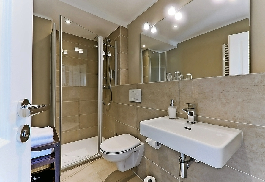 Astra Maris Hotel & Apartments Büsum, Beispiel Badezimmer