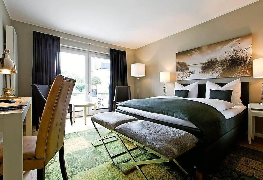 Astra Maris Hotel & Apartments Büsum, Beispiel Doppelzimmer Standard