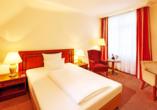 Beispiel eines Standardzimmmers im Dorint Resort & Bad Brückenau