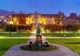 Das Dorint Resort & Bad Brückenau befindet sich in einer ehemaligen Königsresidenz mit einem schön gestalteten Schlosspark.