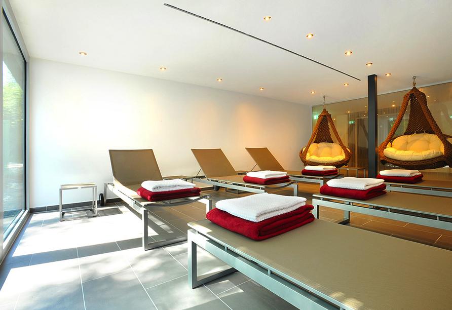 Entspannung bietet die Ruhelounge des Schlosshotels.