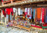 Rundreise durch Albanien, Basar in Kruja