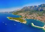 Die Stadt Makarska an der traumhaften Adriaküste erwartet Sie zu Ihrem erholsamen Erlebnisurlaub!