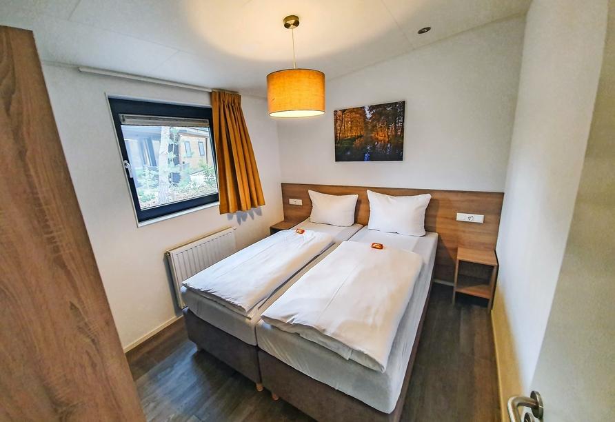 Tropical Islands Resort, Beispiel Schlafbereich Ferienhaus