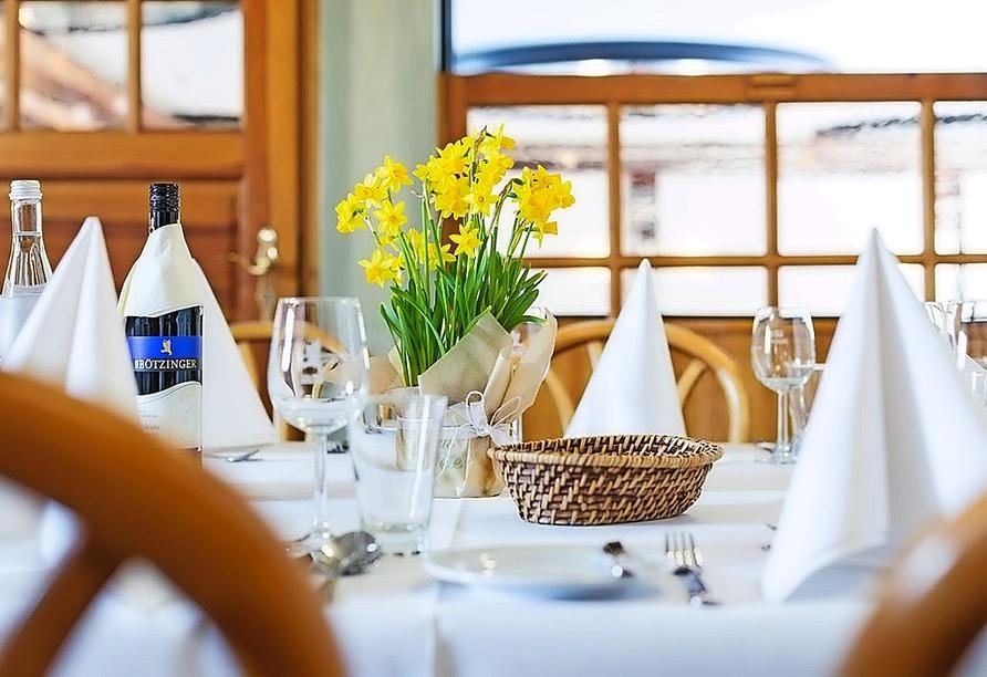 Genießen Sie die traditionelle badische Küche mit Weinen aus den Kellern der Winzergenossenschaft und lokalen Weingütern.