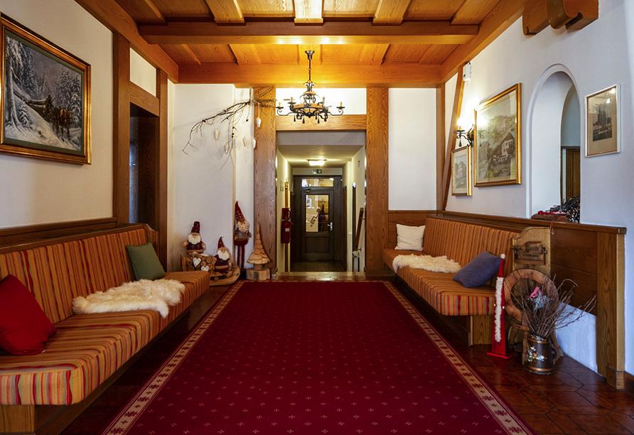 Hotel Stella Alpina in Bellamonte, Italien, Eingangsbereich