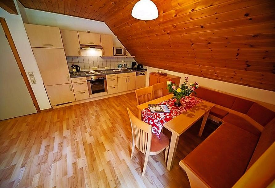 Beispiel einer Küche im Ferienwohnpark Silbersee