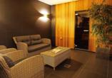 Der gemütliche Wellnessbereich des Hotel Golden Tulip Ampt van Nijkerk lädt zum Entspannen ein.