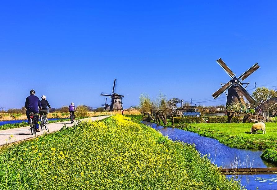 Die Niederlande erkunden Sie am besten mit dem Fahrrad.