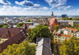 Wunderschöne Panoramaaufnahme von Cottbus.