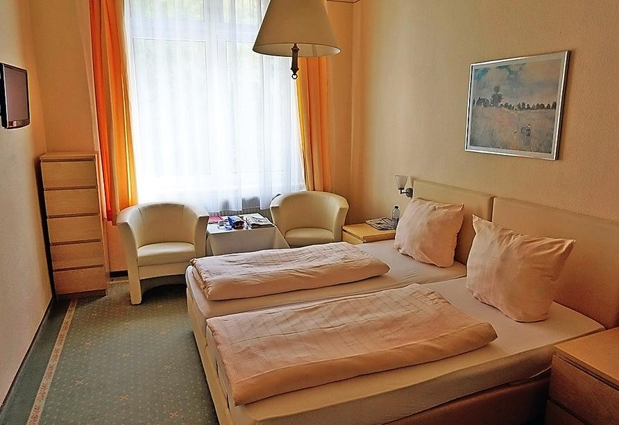 Beispiel eines Doppelzimmers im Kurhotel Quellenhof