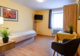 Beispiel eines Einzelzimmers vom Kurgarten-Hotel in Wolfach