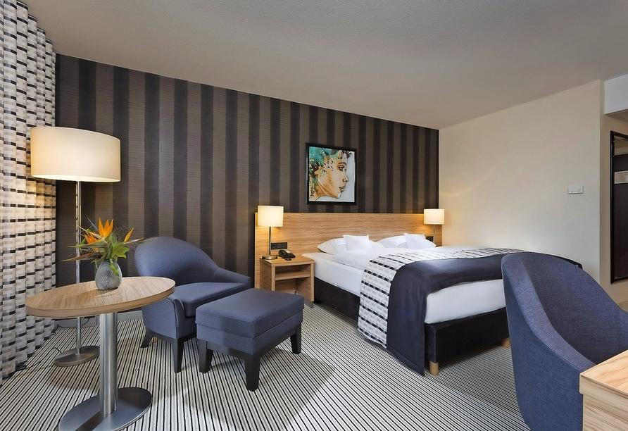 Beispiel eines Doppelzimmers Komfort im Maritim Hotel Königswinter