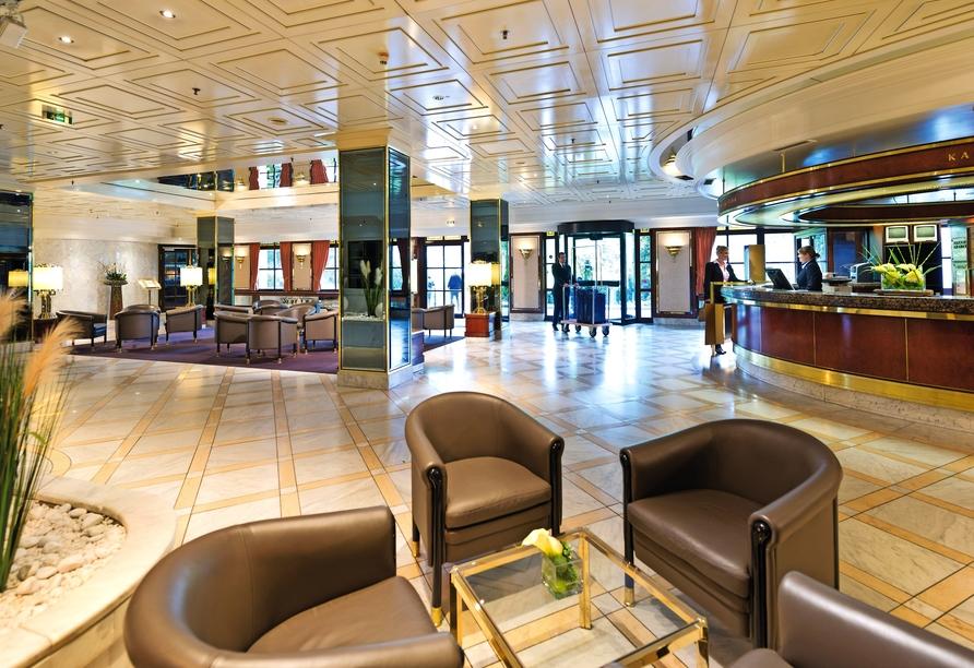 Die gemütliche Lobby des Maritim Hotel Königswinter