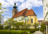 Die historische Stadtkirche in Mühldorf am Inn