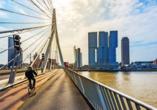 Rotterdam ist auf jeden Fall einen Besuch wert und liegt nur rund 26 km entfernt.