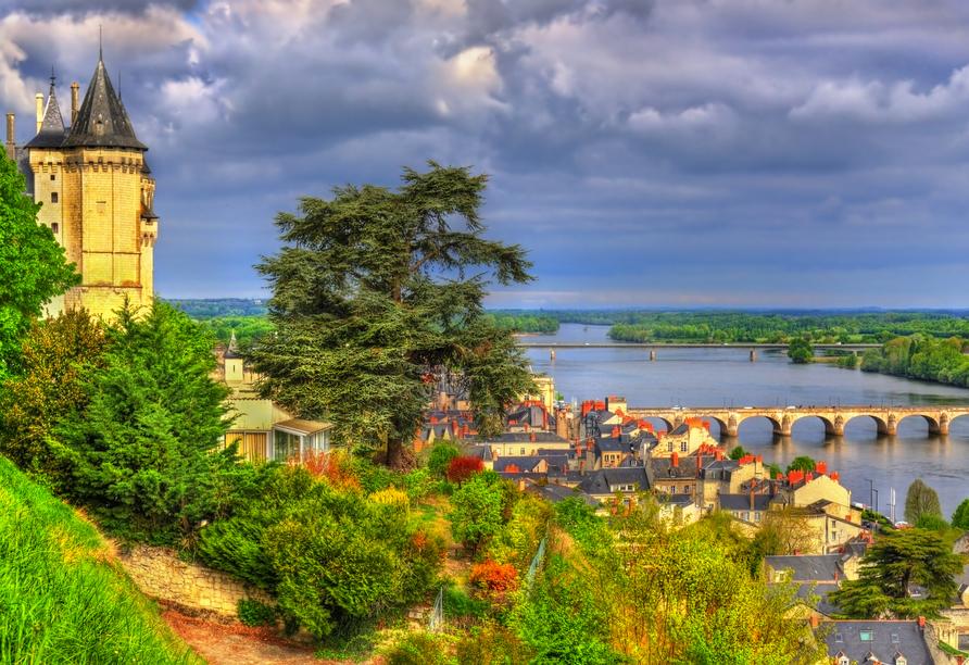 Vom Schloss in Saumur haben Sie einen tollen Blick auf die Stadt.