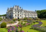 Das Chateau Chenonceau verfügt über einen zauberhaften Garten.