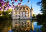Freuen Sie sich auf das Schloss Azay-le-Rideau.