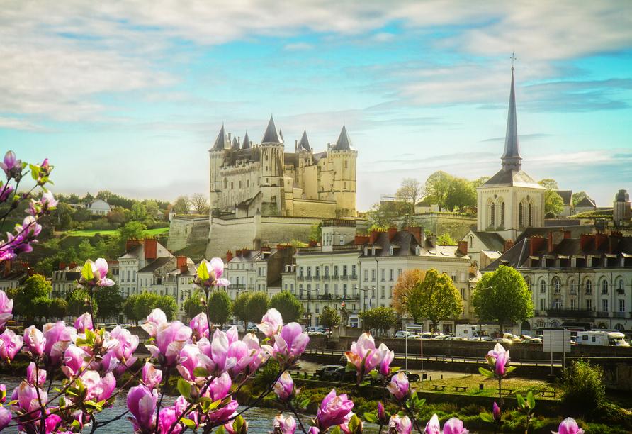Auch Saumur, die weiße Stadt, werden Sie besuchen.
