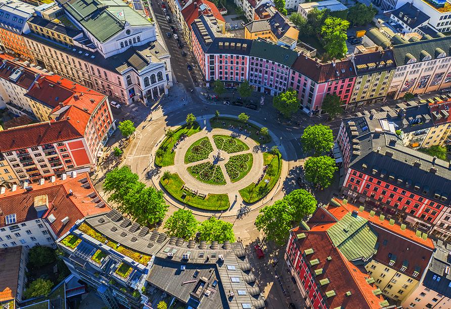 Der Gärtnerplatz ist der perfekte Ausgangspunkt für einen langen Münchner Abend.