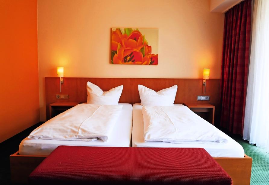 Hotel Ochsen in Kißlegg, Beispiel Doppelzimmer Parkseite