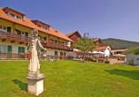 Naturhotel Wieserhof in Ritten, Südtirol, Italien, Garten