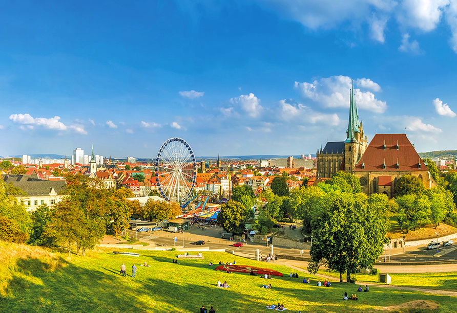 Die thüringische Landeshauptstadt Erfurt ist nur knapp 40 km entfernt.