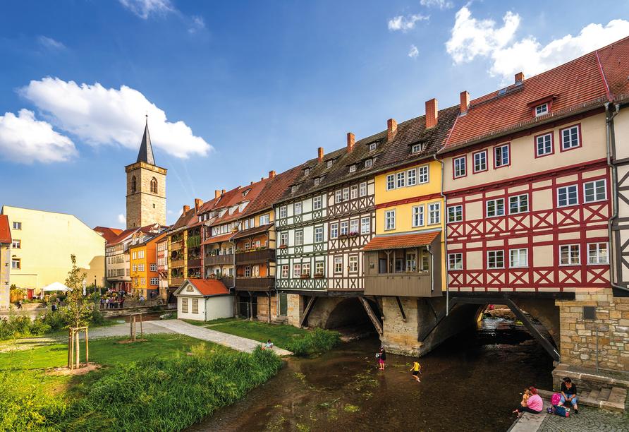 Die Krämerbrücke in Erfurt.